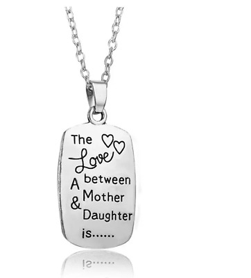 The Love between A Mother - Daughter pendant necklace gift for MOM Mothers Day
