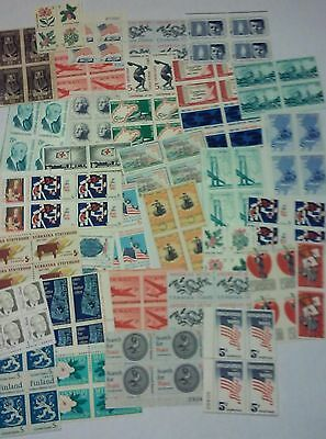 Unused 200 Assorted Mixed Multiples - Singles of 5¢ US Postage Stamps FV 10-00