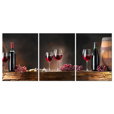 Canvas Print Painting Pictures Poster Wall Art Home Cafe Decor Wine Brown Framed