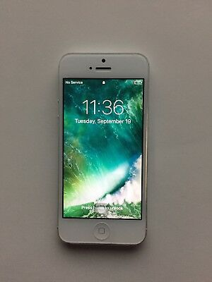 Apple iPhone 5 Silver 16gb Used Factory UnlockedGSM Smartphone 4G LTE