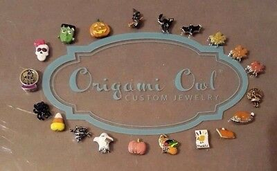 Authentic Origami Owl Halloween - Thanksgiving Fall Themed Charms- Retired HTF