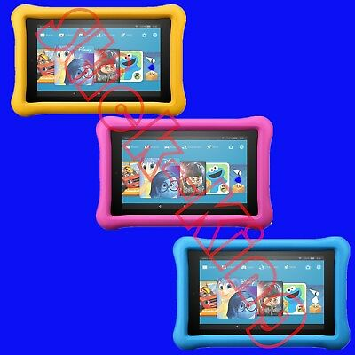 Amazon Fire 7 Kids Edition Tablet 7 Display 16 GB Pink or Blue Kid-Proof Case
