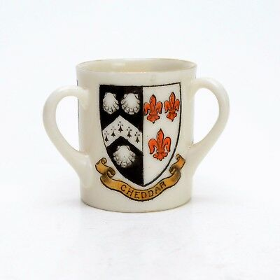 W H GOSS Somerset Henry of Navarre Cheddar Tri Handled Crests Miniature Cup