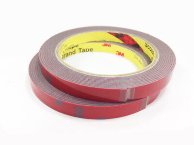 Two Rolls of 3M Automotive Acrylic Foam Double Sided Adhesive Tape  1mm thick
