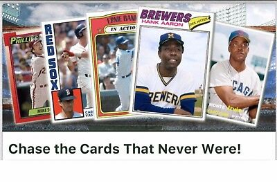 Topps Bunt Digital Card CARDS THAT NEVER WERE COMPLETE SET OF 14