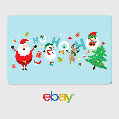 eBay Holiday Digital Gift Card - 25 to 200 Email Delivery