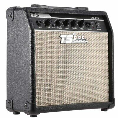 GM-215 15W Electric Guitar Amplifier Amp Distortion with 3-Band EQ 5 Speaker