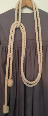 CINCTURE White Knotted Rope Clergy Priest Gown Religious Vestments Knots