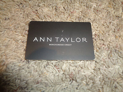 ANN TAYLOR GIFT CARD VALUED AT 43-70 NO EXPIRATION DATE US NATIONWIDE