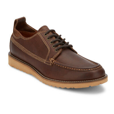 Lucky Brand Mens Stocker Genuine Leather Rugged Lace-up Rubber Sole Oxford Shoe