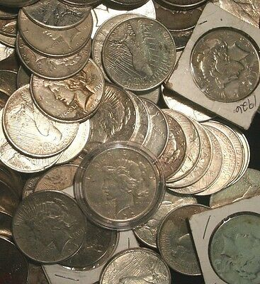 Peace Silver Dollars US Coin lot Circulated Choose How Many