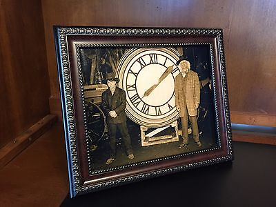 Back to the Future  - Marty - Doc with the Clock Photo Prop Reproduction 8x10