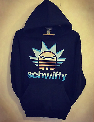 RICK And MORTY Schwifty Style Black Pullover Hoodies Adults Hoodie Sweatshirt