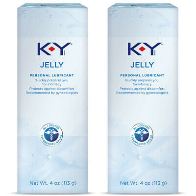 K-Y Jelly Personal Lubricant 4 oz- Pack of 2
