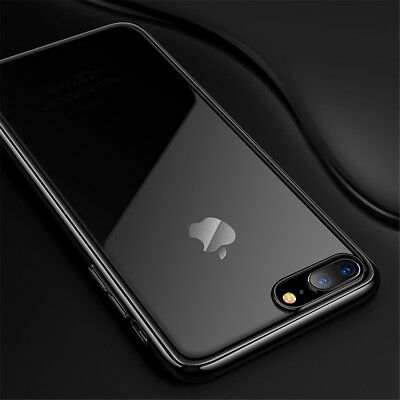 For Apple iPhone 7 8plus Clear TPU Gel Phone Cover Case Ultra Thin Silicone Case