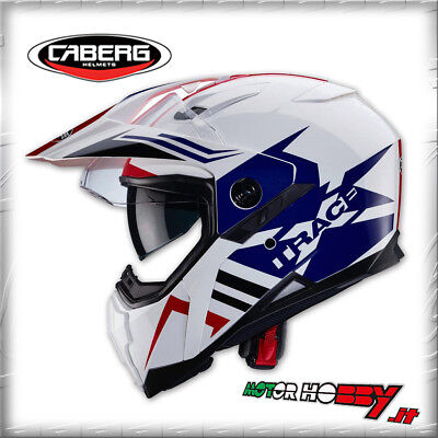 acc9f2bf0b9 CASCO INTEGRALE CABERG XTRACE LUX WHITE BLUE RED COLORI AFRICA TWIN TAGLIA  XL
