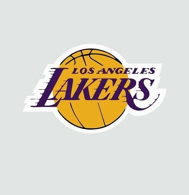 Los Angeles LA Lakers NBA Basketball Color Sports Decal Sticker-Free Shipping