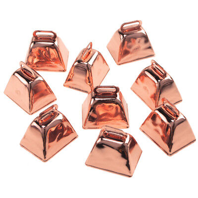 Small Metal Cowbells Rose Gold 1-12-Inch 9-Piece