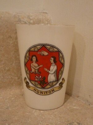 VINTAGE WH GOSS CRESTED CHINA HONITON CUP TUMBLER GOSHAWK STAMP
