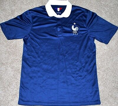 FRANCE MENS SOCCER FUTBOL JERSEY FIFA WORLD CUP SMALL NEW TRIKOT READ AD