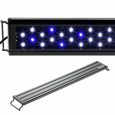 AQUANEAT Aquarium Light Blue - White LED Marine FOWLR 12 20 24 30 36 Inch