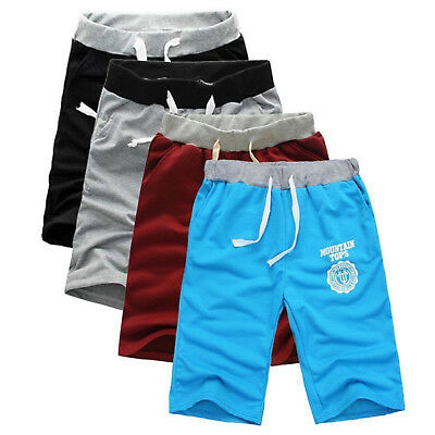New Summer Men Sport Shorts Pants Gym Trousers Jogging Trousers Cotton Shorts US