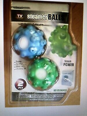 Steamy Dryer Steam Balls As Seen On TV 2 Pack NEW  FREE Shipping
