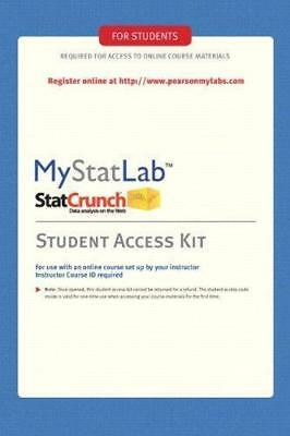MyLab Statistics Kit by Pearson Education Staff and Prentice Hall Pearson Staff