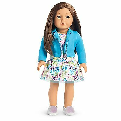 AMERICAN GIRL TRULY ME Doll 59 BRAND NEW Brown Hair w DRESS MOTO JACKET SHOES