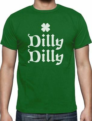 Dilly Dilly Irish Shamrock Clover ST- Patricks Day T-Shirt For Men S - 5XL New