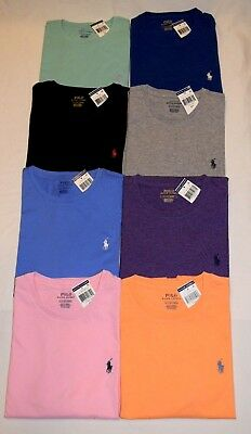 NEW WITH TAGS MENS POLO RALPH LAUREN CREW NECK T SHIRT SIZE S M L XL XXL