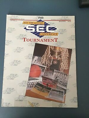 ALABAMA WINNER 1989 Southeastern Conference SEC Tournament March 9-12 Program