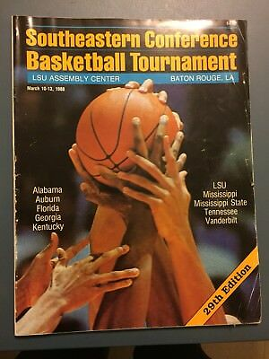 1988 SEC TournamentMarch 10 -13 ProgramKENTUCKY WON OVER GEORGIA 62 - 57