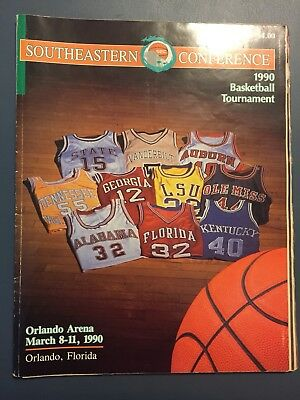 1990 SEC TOURNAMENT PROGRAMMARCH 8-11 ALABAMA WON OVER OLE MISS 70 TO 51