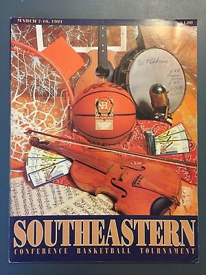 1991 SEC TOURNAMENT PROGRAMMARCH 7-10 ALABAMA WON OVER TENNESSEE 88 TO 69