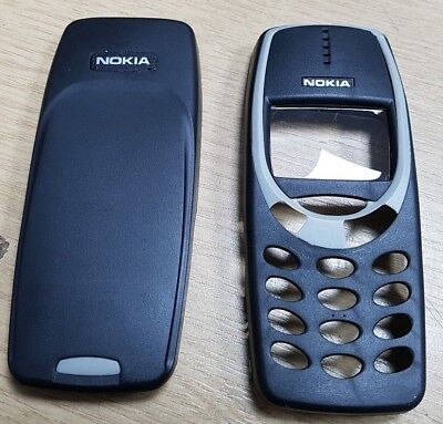 New For Nokia 3310 3330 Front Fascia - Battery Cover Housing Black