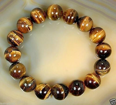 8mm Natural  African Roar Natural Tigers Eye stone Round Beads bracelet 7-5