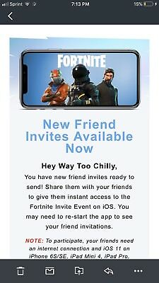fortnite iOS mobile invite codes ONLY 3