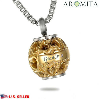Grandma Always in my heart Cremation Memorial Keepsake Urn Ash Holder Necklace