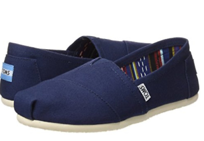 Toms Womens Classics Canvas Slip-on Shoes Navy Pick A Size