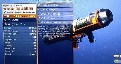 FORTNITE °VACUUM TUBE LAUNCHER° WATER - NATURE DAMAGE  PwR LvL 82 XBOX ONE - PC