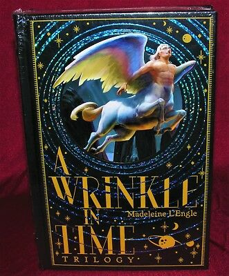 A Wrinkle In Time Trilogy By Madeleine LEngle Leather Bound Collectable Edition