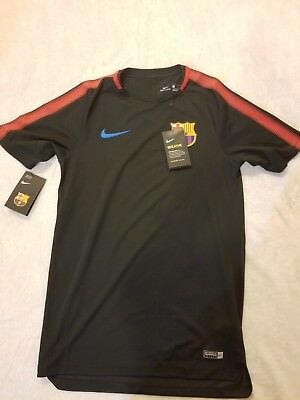 Nike Mens FC Barcelona Breathe Squad Black Training Top - Small