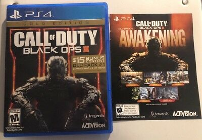 Call of Duty Black Ops III Gold Edition PS4 Includes Unused Bonus Content