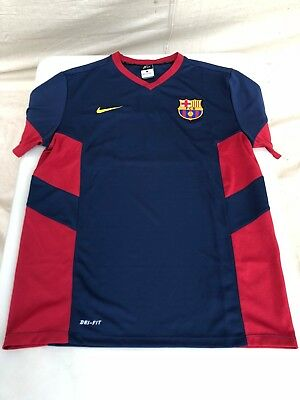 Mens Nike Dri-Fit FC Barcelona T Shirt Size Large - Very Good Condition