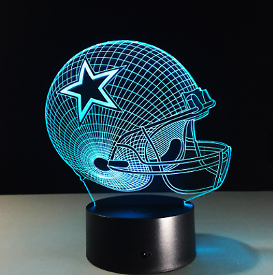 Dallas Cowboys Collectible NFL Decor Night Light Touch Lamp Gift- MenKidsWomen