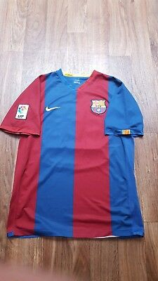 2006 fc barcelona jersey size medium