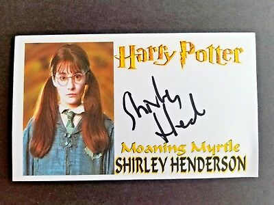 HARRY POTTER SHIRLEY HENDERSON MOANING MYRTLE Autographed 3x5 Index Card