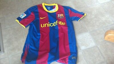 FC Barcelona nike jersey shirt M medium kit  unicef red blue lfp