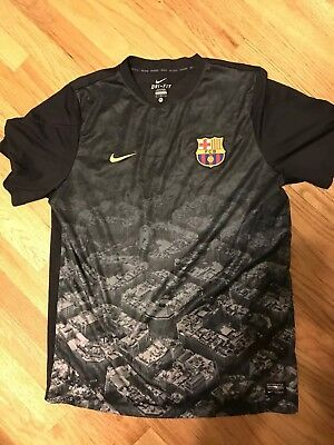 NIKE MENS FC BARCELONA MENS SOCCER FOOTBALL RARE TRAINING SHIRT JERSEY XL